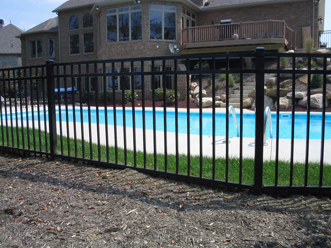 Flat Top Iron Fence